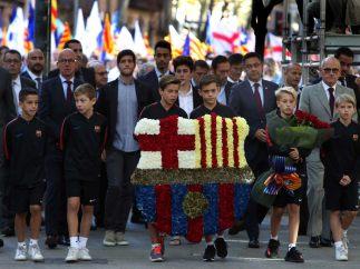 Escudo floral del Barça por la Diada