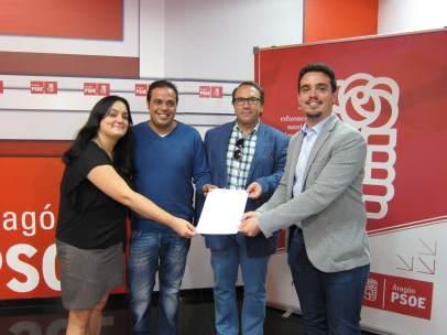 El equipo de Javier Lambán ha presentado su candidatura a liderar el PSOE-Aragón