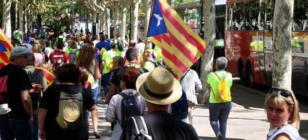 Manifestantes en la Diagonal