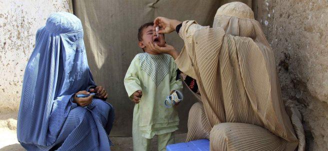 Campaña contra la polio en Afganistán