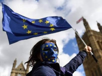 Manifestantes contra el 'brexit'