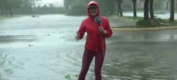 Almudena Ariza informa del huracán Irma