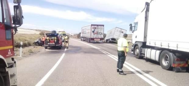 El accidente ha ocurrido en la N-II a la altura de Bujaraloz