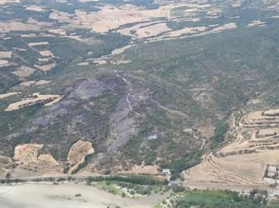 El incendio de Graus ha afectado a 43 hectáreas arboladas.