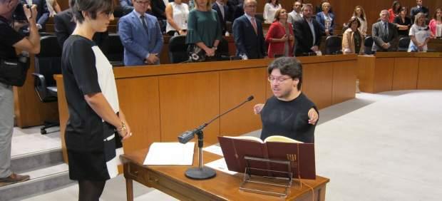 Toma de posesión del diputado de Podemos Raúl Gay en sustitución de Echenique