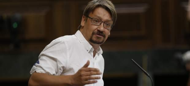 Xavier Domènech, portavoz de En Comú Podem en el Congreso.