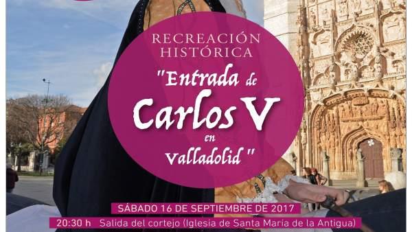 Recreación de la entrada en Valladolid de Carlos V.