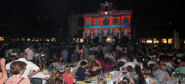 Salamanca durante el Festival de Luz y Vanguardias.