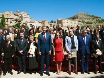 Los Reyes posan junto a los galardonados con los Premios Nacionales de Cultura 2016