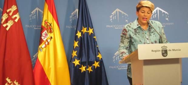 Noelia Arroyo durante el Consejo de Gobierno