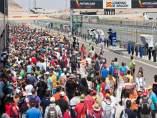 Aficionados En El Paddock Del Circuito De Motorland Aragón