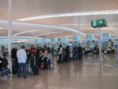 Terminal T1 Aeropuerto de El Prat Barcelona.