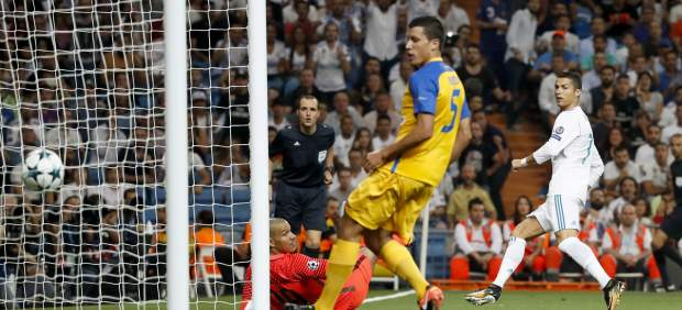 Gol de Cristiano ante el Apoel