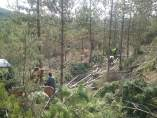 Trabajos de la CHE en Aínsa para prevenir incendios forestales