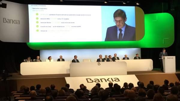 Goirigolzarri en la Junta de Bankia