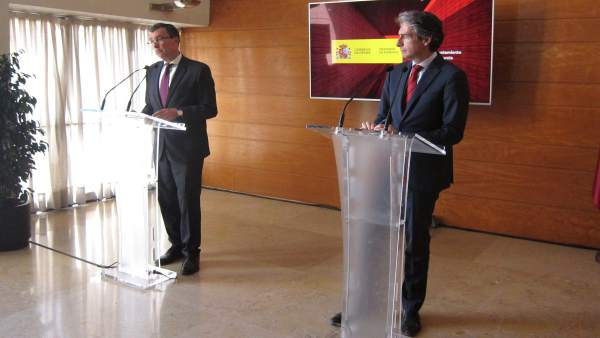 Alcalde de Murcia, José Ballesta junto con ministro Fomento