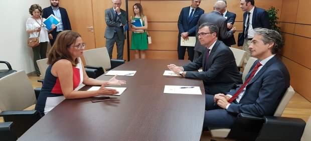 Reunión de ediles del PSOE con Ballesta y De la Serna
