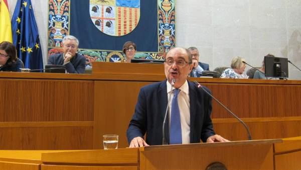 Javier Lambán, en la segunda jornada del Debate en las Cortes
