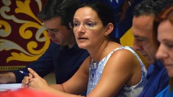 Zaida González en comisión de control
