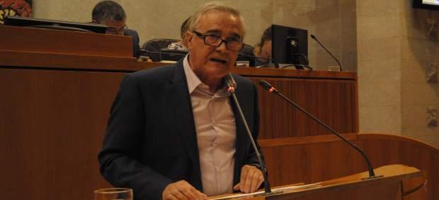 Javier Sada (PSOE), en su intervención en el Debate de política general