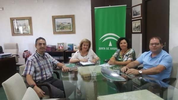 Responsables del sector de Sanidad de UGT-Jaén se reúnen con Teresa Vega.