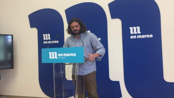 El viceportavoz parlamentario de En Marea, Antón Sánchez