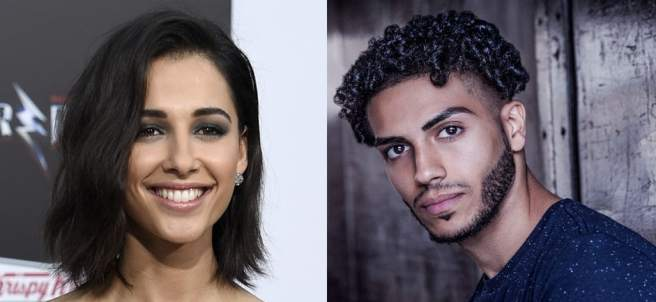 Naomi Scott y Mena Massoud