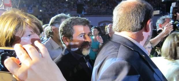 J.Sànchez (ANC) y O.Junqueras en el acto de incio de la campaña del 1-O