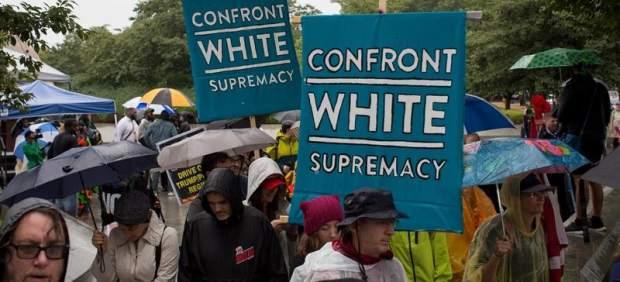 Marcha contra el supremacismo blanco en EE UU