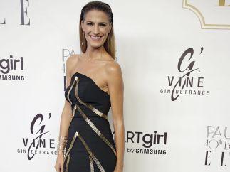 La modelo Laura Sánchez sonríe a la prensa
