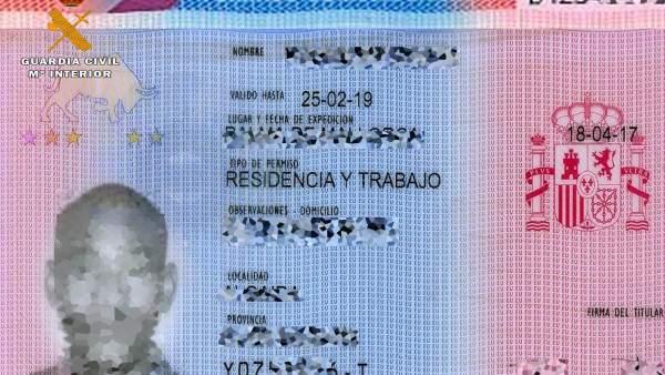 PERMISO RESIDENCIA INTERVENIDO