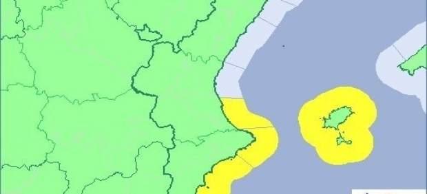 Ones de fins a tres metres en el litoral d'Alacant i en litoral sud de València
