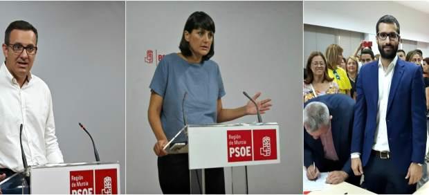 Los tres candidatos Secretaría General PSOE, Conesa, Veracruz y Lucas
