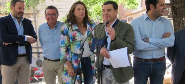 Juanma Moreno durante su comparencia