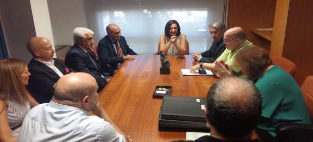 Reunión entre el Gobierno de Aragón y los agentes sociales