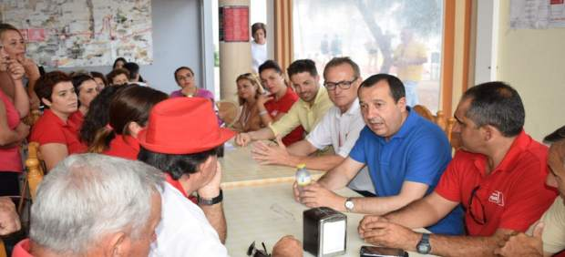 Ruiz Espejo en un encuentro con militantes