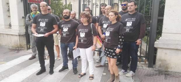 Protesta de bomberos de Cuenca
