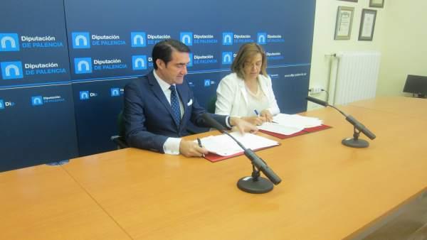 Rueda de prensa del consejero de Fomento y la presidenta de la Diputación