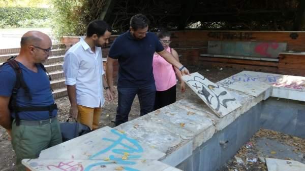 Visita de Rojas a los Jardines del Guadalquivir