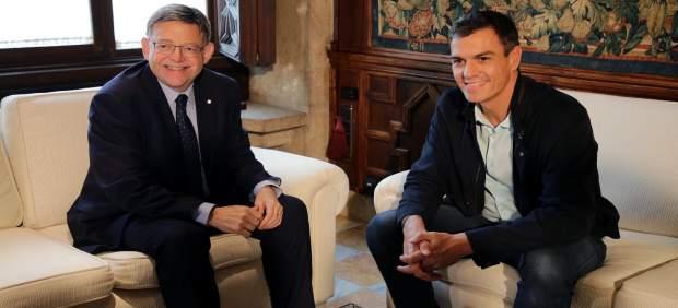 Puig junto a Pedro Sánchez