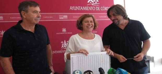 Alba Doblas, Rafael Ibáñez y Rafael Foche