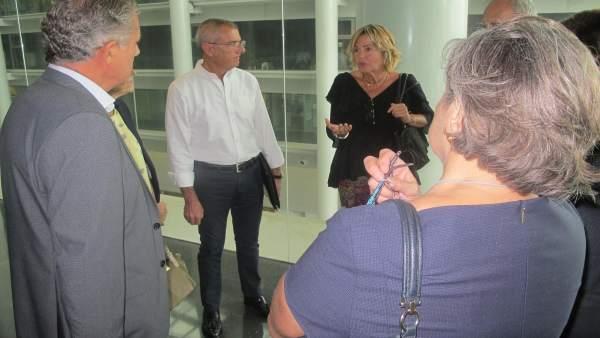Visita de representantes judiciales a la Ciudad de la Justicia