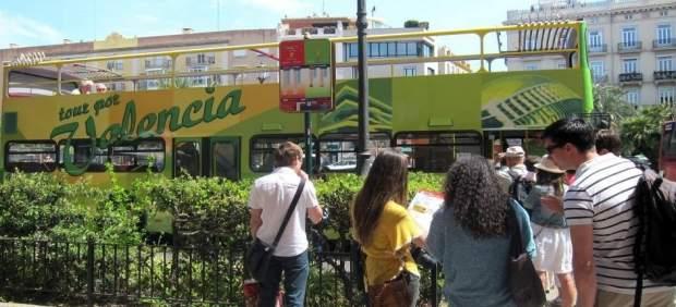 Turistas en València