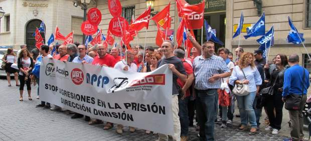 Protesta de los trabajadores de la cárcel de Palma