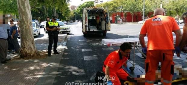 Motorista herida grave en Sevilla