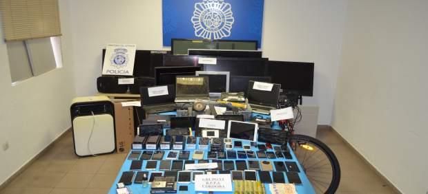 Objetos recuperados por la Policía