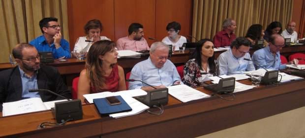Bancada del gobierno local con Ganemos en el último Pleno de Rafael del Castillo