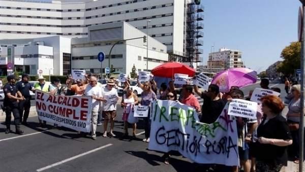 Protesta de la plataforma.