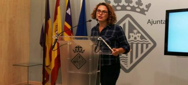 Eva Frade en rueda de prensa