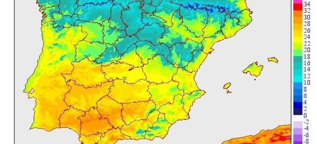 Gráfico explicativo sobre las temperaturas en España